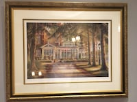 brown wooden framed painting of house Vaughan, L4L 8X8