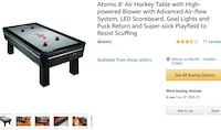 Atomic 8ft air hockey table  Franklin, 37188