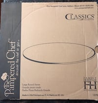 """Pampered Chef 15"""" large pizza stone, never used. Clifton, 20124"""