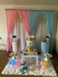 For rent: Pink blue party gender reveal package Boston
