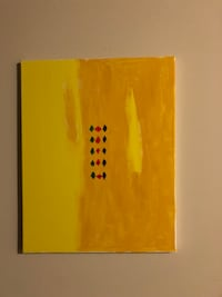 brown and yellow abstract painting 46 km