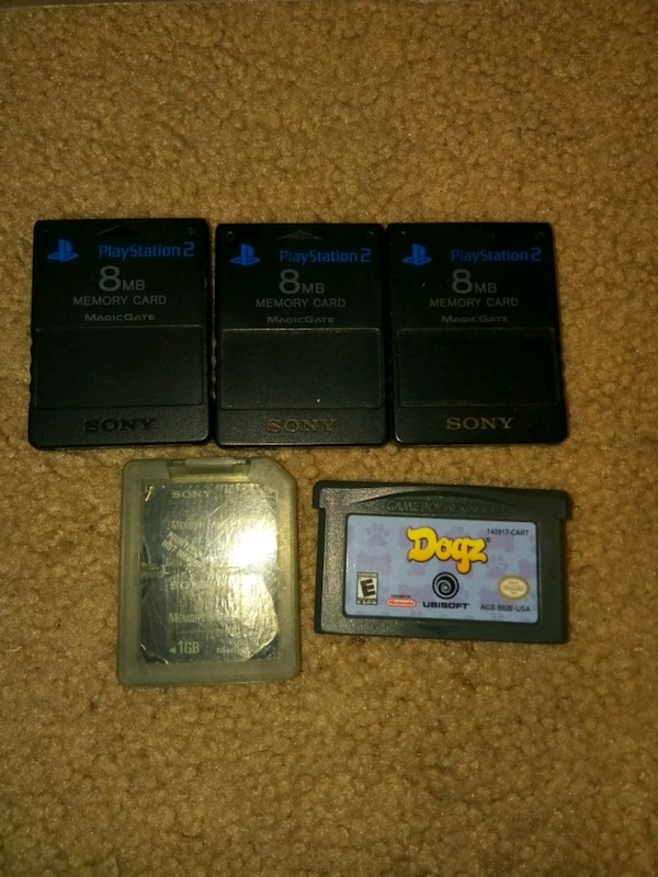 Ps2 memory cards/ gameboy game