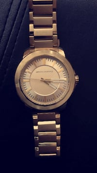 ARMANI EXCHANGE THREE-HAND GOLDTONE RYDER WATCH Vancouver
