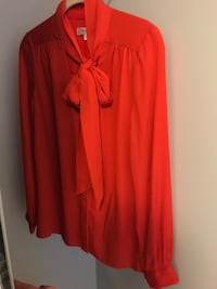 Milly orange silk blouse with tie neck size 4 Toronto, M4P 1R2