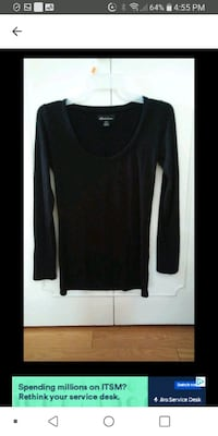 Woman New Black long sleeves top