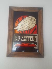 Vintage Led Zeppelin glass picture Eugene, 97401