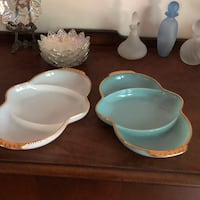 Milk glass serving dishes  La Plata, 20646