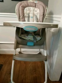 baby's gray and white high chair Baltimore, 21205