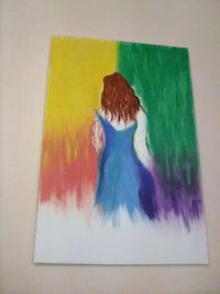 multicolored acrylic painting 24x36