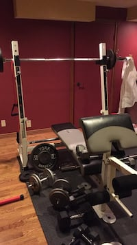 Olympic bench with weights Dorval, H9P