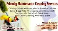 Friendly Maintance Cleaning Services - 25 Years of Experience Brampton