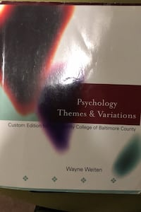 Psychology themes and variations  Baltimore, 21237