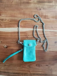 teal and gray leather crossbody bag Laval, H7X 0A1