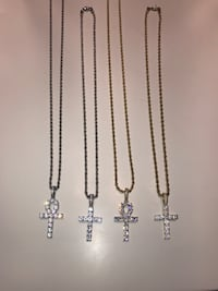 Stainless steel Rope chains & pendant SET 503 km