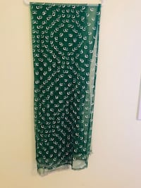Green flag Pakistani dupatta for only 5$ brand new never used from a pet and smoke free home  Vaughan, L6A 3A5