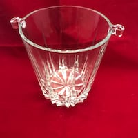 """A029 Ice Bucket small crystal 5x5"""" rocket pattern,icicles  Glendale"""