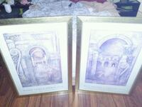 two white wooden framed paintings Toms River, 08757