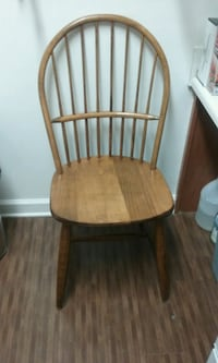 brown wooden windsor armless chair Warrenton