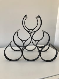 Black 6-bottle wine bottle holder/rack