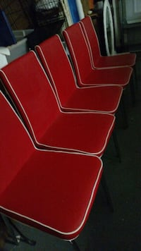 6 Red Retro Chairs Altamonte Springs