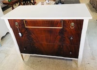 Mahogany flame dresser with crackled finishe Frederick, 21701