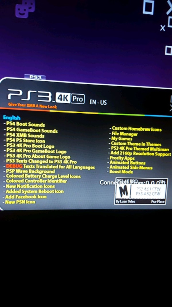 PS3 Modded Console All Slim