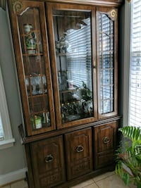 brown wooden framed glass display cabinet Winchester, 22603