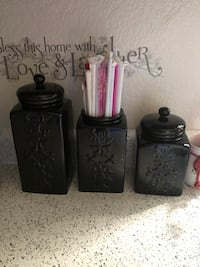 Black Canisters/Glasses