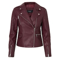 NWT Faux Leather Jacket L Burnaby