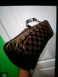 brown and black checkered leather handbag Palmview, 78572