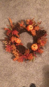 orange and brown harvest wreath Corpus Christi, 78413