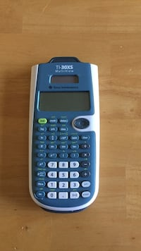 blue and white Taxas Instruments TI-30XS multiview graphing calculator Round Lake, 60073