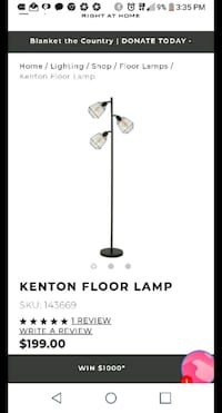 $35Urban Barn Kenton Floor Lamp($199 in store) Toronto, M5A 3X9