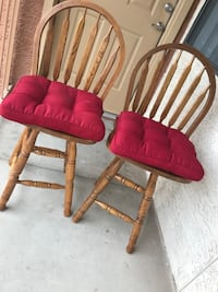 Two brown wooden windsor chairs Phoenix, 85008