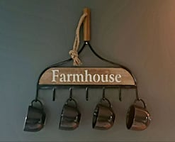Farmhouse rack wall decor