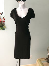 BLACK  GEORGE  DRESS