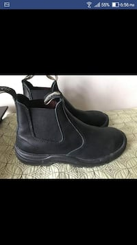 Blundstone Black Leather Boots Men Size 9.5/Women Size 11 New  No original box.  DESCRIPTION  Beautiful, versatile Blundstone Boots. This style is lined with leather, which is a good thing because you're going to want them to last for a long time. A shock Toronto
