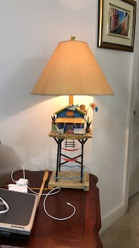 brown and white table lamp Fairfax, 22030