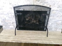 Hammered fireplace screen