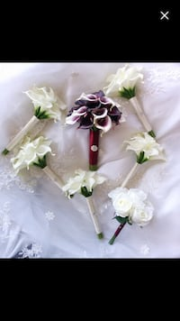 Real touch Calla Lily Wedding Flowers Ottawa