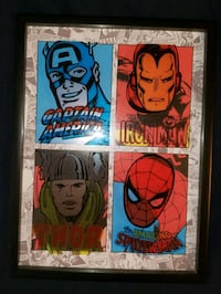 Marvel Comic Printed Glass Shadowbox
