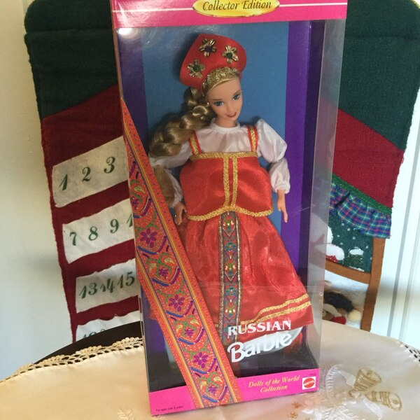 Beautiful Russian Barbie Doll in Box / Like new not opened