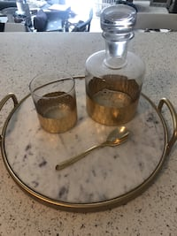 Decanter, glass and spoon - tray not included La Mesa, 91942