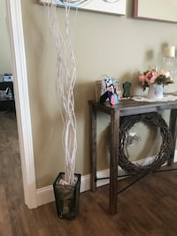 Small colored glass vase with white modern branches Cookeville, 38506