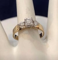 14k yellow gold diamond engagement ring *Compare at $2,200 Vaughan, L4J