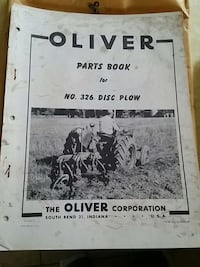 oliver parts book of no. 326 disc plow Warwick, 02889