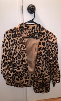 Cheetah print blazer jacket