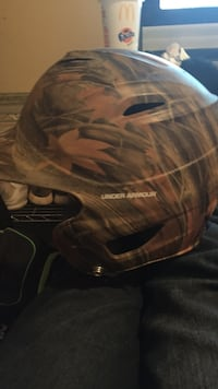 brown and green realistic camouflage Under Armour helmet Florence, 35633