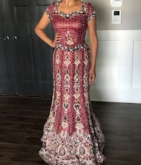 Wine colour bridal lenga Surrey, V3W 5K1