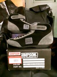 Simpson Racing MT120BK MIDTOP SHOE * SIZE 12 BLACK (SFI-5)